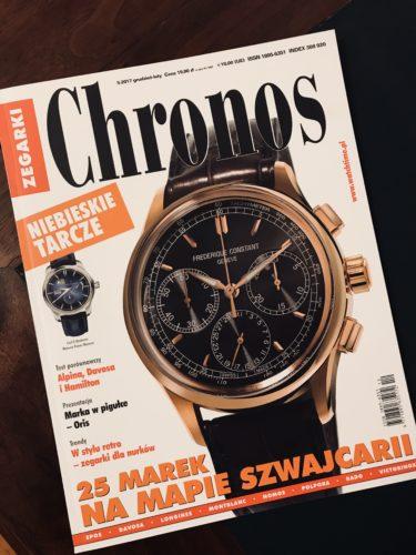 """Relacja z Festiwalu """"It's All About Watches"""" w magazynie Chronos."""
